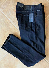 Polo Ralph Lauren Mens Jeans 38 x 30 Prospect Straight Black Stretch Denim NWT