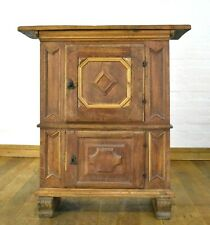 Antique rustic solid wood side double cabinet - cupboard