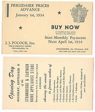 US Postal Stationery Cards UX27 Preprinted Advertising 2 Different Unused
