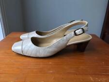 Easy Spirit women's ivory slingback dress shoe Size US5.5