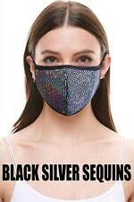 Fashion Face Mask with Filter Pocket(Sequins/Foil/Bandana)Adult&Kids MADE in USA