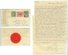 Jan 1947 Tonga post-Tin Can Mail from Quensell to Crocker w/long letter