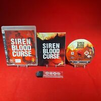 Siren Blood Curse - Sony Playstation 3 PS3 PAL Game *BellaRoseCollectables*