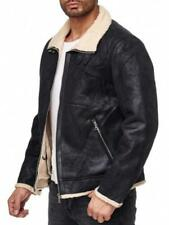 Manteaux et vestes aviateurs, harringtons noirs en cuir pour homme