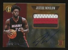 2015-16 Panini Gold Standard Justise Winslow RPA RC Rookie Patch AUTO /25