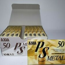 FUJI AXIA lot (2/ 5/ 10/ 25) PS METAL 50 BLANK CASSETTE TAPE (SEALED) AUDIO TAPE