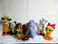 Lot of 6 Disney Bath Toys Pluto Daisy Duck Dumbo Tweety Bird Flower Lady & Tramp