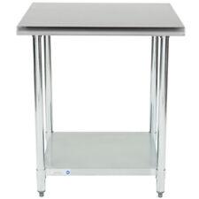 New 30 X 30 Stainless Steel Work Prep Table Adjustable Under Shelf Restaurant