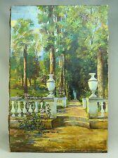 *Ea.1900's Hector Moncayo (Ecuadorian/Mexican, 1895-1984) O/C Garden Courtyard