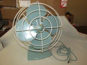 Vintage GE General Electric Fan * Strap, Desk * Oscillating * Works Great!!