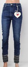 Risse/- Damen-Jeans in Übergröße Fetzen Hosengröße 48