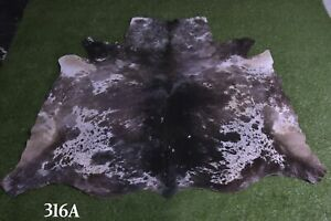 """New Cowhide Rugs Hair On COW HIDE Rugs Area Cow Skin Leather Rugs (65"""" x 63"""")"""