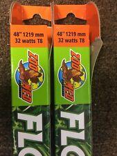 "2 Light Bulbs Zoo Med T-8 Flora Sun Max Plant Growth Fluorescent Bulb 48"""