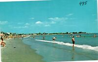 Vintage Postcard - Unposted Surfing in Rye Beach New Hampshire NH #3344