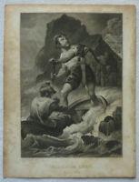 """STAHLSTICH """"WILHELM TELL"""" SCHILLER 1839 ca. 10,5 x 14 cm P. C. Geissler"""