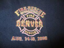 Blue 2008 DENVER FIRE RESCUE INTERNATIONAL T Shirt Large