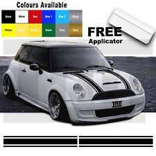 Mini One Mini Cooper Bonnet Rayures Vinyl Graphics decals stickers livrée