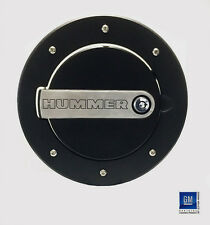 2003-2009 HUMMER H2 BLACK TWO-TONE ENGRAVED LOCKING GAS FUEL DOOR COVER