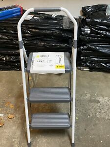 3 STEP FOLDING LADDER BY GORILLA. BRAND NEW AND SEALED. LIFETIME WARRANTY. LOCAL