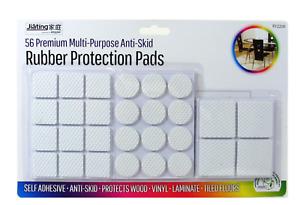 56x Anti-Skid Rubber Furniture Pads Self Adhesive Floor Scratch