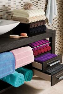 Kensington Stain Stripes 100% Egyptian Cotton Jumbo Luxury Soft Absorbent Towels