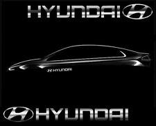 2x Hyundai Seitenaufkleber Chrom Folie Sticker Aufkleber Tuning Logo