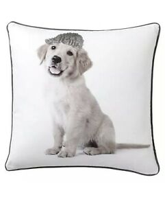 """NEW Pottery Barn Teen  Party Dog 18"""" Pillow Cover GOLDEN RETRIEVER~FREE SHIPPING"""