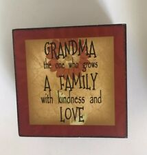 Grandma Quote Gift Wall Hanging Sign Ornament Country Decor NEW Blossom Bucket