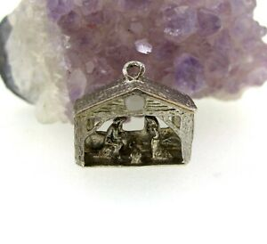 Sterling Silver Rembrandt Nativity Charm