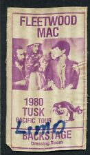 1980 Fleetwood Mac concert backstage pass Tusk Tour Penguin Limo