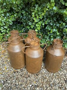 French Vintage Cast Iron Milk Churn