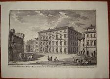 Stampa antica Palazzo Marescotti Estense Giuseppe Vasi Roma old print Pigna