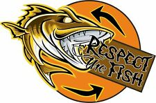 Respect the Fish Catch and Release Sticker Decal Fishing car boat window bumper