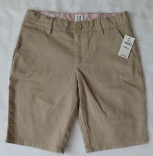 Nwt Gap Kids Girls Uniform Bermuda Shorts Adjustable Waist Khaki 8 Regular