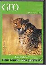 DVD ZONE 2--DOCUMENTAIRE GEO--POUR L'AMOUR DES GUEPARDS--LAURIE MARKER