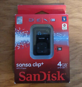 Sansa Clip+ Black (4GB) Digital Media Player. BRAND NEW/SEALED.