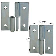"""Take Apart Pin Hinge 4 pieces 2""""x1.5"""" zinc plated 12 gauge metal"""