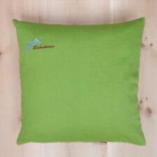 Zirbenkissen 40x40 Baumwolle grün, frisch befüllt, mit GRATIS Nachfüllpack