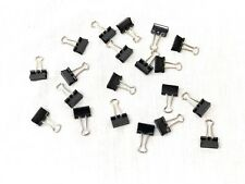 20 Pieces Small Binder Clips, Steel Wire Office Paper Clips
