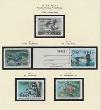 MISSOURI HUNTING PERMIT STAMPS 1979-1996 CV $699 BS6394