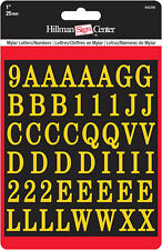 "Hillman 842266, 1"" Gold / Black Letters & Numbers Kit (Square Cut)"