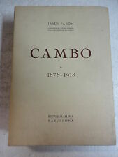 Cambó,1876-1918,Jesus Pabon,Ed.Alpha 1952