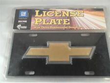 """GM Chevrolet Collectible 3D """"Pewter Look"""" License Plate"""