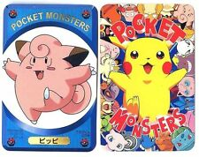 "PROMO POKEMON JAPANESE POCKET MONSTERS ""TEREBIKUN"" 1998 - MELOFEE Clefairy (Bleu"