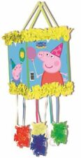 PEPPA PIG PULL STRING PINATA & BLINDFOLD - CHILDRENS PARTY GAME 395-809