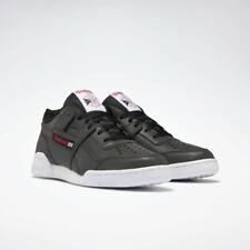 Reebok Men's Workout Plus Sneaker | Black/White/Excellent Red | 10.5 M US