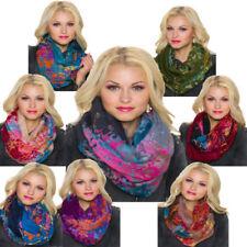 Mehrfarbige Bunte Damen-Schals & -Tücher aus Viskose/Rayon