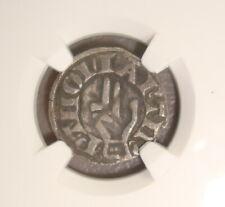 1200-1300 France, Besancon Medieval Silver Denier NGC VF25