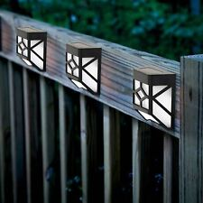 8 x Solar Powered Outdoor Garden Shed Door Fence Wall Led Lights Bright Lighting