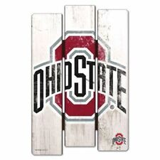 "Ohio State Buckeyes Fence Wood Sign 11""X17'' Brand New Wincraft"
